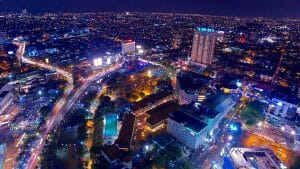 how to go to Surabaya points of interest surabaya city night