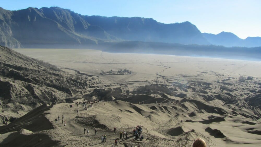4 Days Bromo Ijen Crater Blue Flame Travel Package sand sea